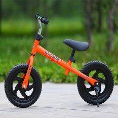 DX 12 Inch Anak-anak Roda Dua Pushbike Latihan Keseimbangan Sepeda dengan Setang Yang Bisa Disesuaikan dan Pelana