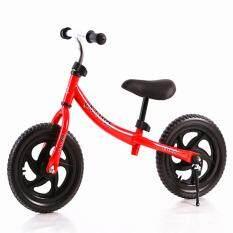 OS 12 Inch Roda Dua Pushbike Anak-anak Latihan Keseimbangan Sepeda dengan Setang Yang Bisa Disesuaikan dan Pelana Warna: Merah Ukuran: 12 Inch
