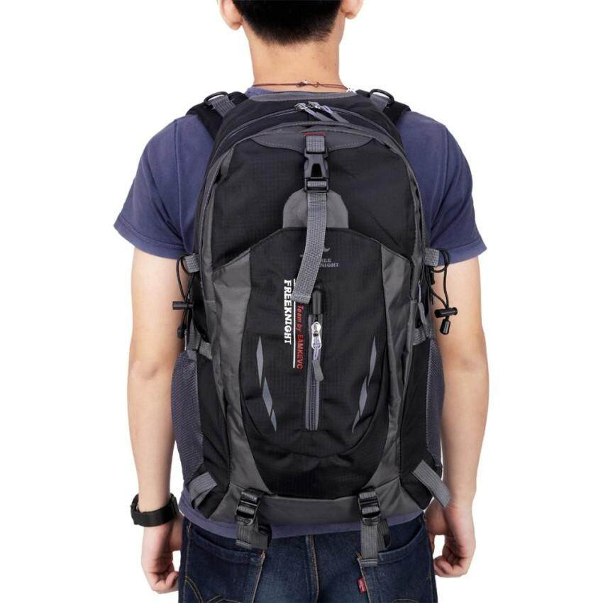 Who Sells 120 Zh Free Knight 005 Outdoor Sports Backpack Hiking Camping Waterproof Nylon Bag 40L Black   Intl Cheap