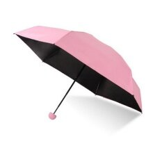 Wonderful Toy 18*4.5cm Ultra Light Mini Umbrella 5 Folding Compact Umbrella With Lovely Capsule Case Pocket Umbrella By Wonderful Toy.