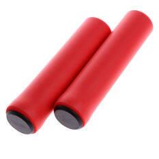 LB 1 Pasang Ultra Ringan Anti-Slip Sepeda Setang Pegangan Penutup untuk Sepeda Sepeda Gunung Sepeda Lipat BMX Warna: Merah