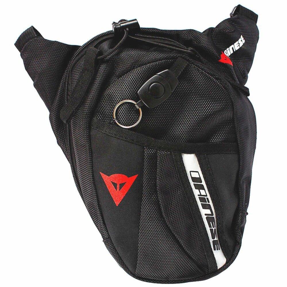 Low Cost 1X Fashion Waist Bag Waterproof Nylon Travel Bag Men Black Drop Leg Bag Motorcycle Pack Waist Belt Bag Intl