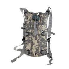 2.5l Army Tactical Hiking Water Reservoir Backpack Bag With Bladder Acu (black) By Rainbowonline.