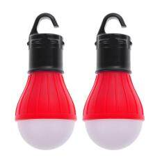 2 X Outdoor Hanging 3 Camping Tent Light Bulb Fishing Lamp (red) By Rainbowonline.