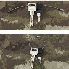 20 PCS Stainless Steel 20cm Wire Keychain Cable Key Ring for Outdoor