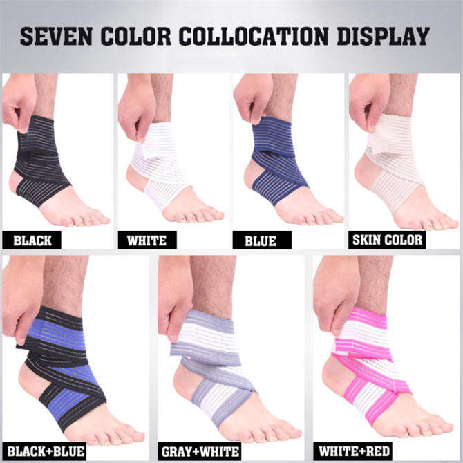 2018 Best Quality Ankle Support Spirally Wound Bandage Volleyball Basketball Ankle(blue) .