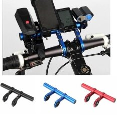 20cm Handlebar Extender, Extension Mount Holder Space Saver With Double Clamps, Bracket For Bike Light, Gps, Phone, Speedometer (black) By Aolvo.