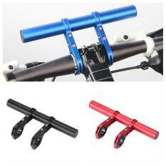 20cm Handlebar Extender, Extension Mount Holder Space Saver With Double Clamps, Bracket For Bike Light, Gps, Phone, Speedometer (blue) By Kobwa Direct.