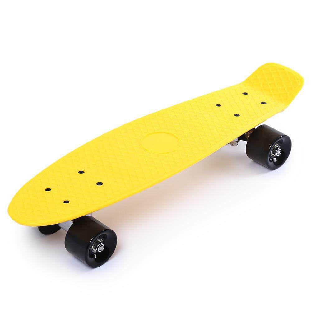 22 Inci Roda Empat Panjang Skateboard Retro Style PP Board Dek-Intl
