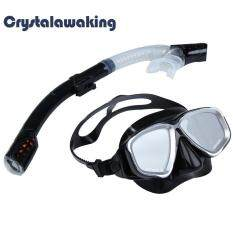 2in1 Swimming Diving Protective Goggle Breathing Tube Snorkeling Mask Set By Crystalawaking.