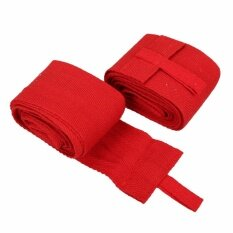 [cheerfulhigh]2pcs 2.4m Boxing Handwraps Bandage Mma Training Wrist Protect Punch Red By Cheerfulhigh.