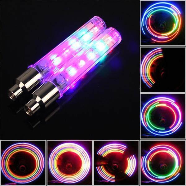 01 cặp đèn LED 5 bóng gắn vào bánh xe đạp xe máy ô tô dễ dàng lắp đặt và sử dụng - INTL