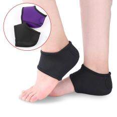 2pcs Foot Heel Ankle Wrap Pads Plantar Fasciitis Therapy Pain Relief Arch Support Color:black By Super Star Mall.