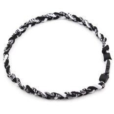 3 Rope 50cm Titanium Dental Necklace Sport Baseball Softball Knitting Twist  Black  Black  White