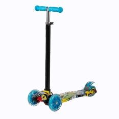 3 Wheels Kid Scooter Kick Scooter Flashing Pu Wheels Adjustable Height By Solestores.