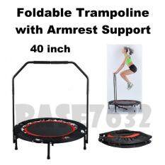 W/ Armrest Support 40 40inch 40 Inch Inches Foldable Fitness Trampoline Jumping Bed Armrest Support 1980.1 By Gadgets Distribution.
