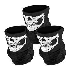 3PCS Bicycle Ski Skull Half Face Mask Ghost Scarf Multi Use Neck Warmer COD