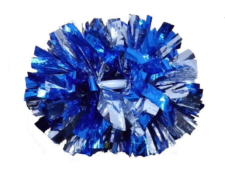 40CM game pompoms cheering supplies Cheerleader pom poms supplies PVC pompons Color can free combination,Blue - intl