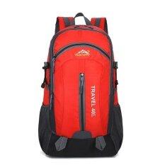 40l Tas Mendaki Tahan Air Bahan Terylene Unisex Perjalanan Camping Sport (merah) By Sportschannel.