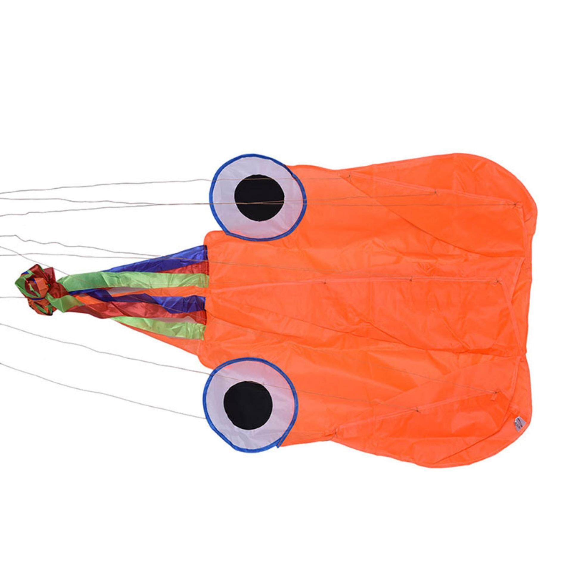 4M Single Line Stunt Red Octopus Power Sport Flying Kite Outdoor Toy - intl