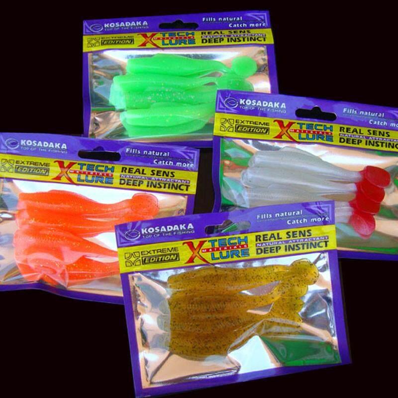 4 PC Lembut Umpan untuk Memancing Shad Fishingwormswimbaits Jig Kepala Lembut Pancing Umpan-Internasional