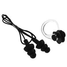 4pcs Soft Silicone Swimming Nose Clips + Ear Plugs Earplugs Gear With Case Box Pool Accessories Water Sports For Swimming Diving By Peas In Pod.