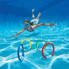 4PCS/Lot Underwater Dive Ring Swimming Pool Water Diving Toy Summer Beach Swimming Aid for