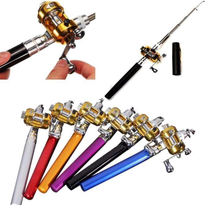 ... Pocket Portable Fish Pen Aluminium Alloy Ice Fishing Rod Pole Reel. Source · Hình ảnh thu nhỏ 5 cái Mini Di Động Bỏ Túi Cá Bút Hình Hợp Kim