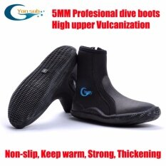 5mm Scr Neoprene Vulcanization High Upper Scuba Dive Boots Cold Proof Anti Slip Skid Keep Warm Shoes Fishing Winter Swim Fins By Made In Heaven.