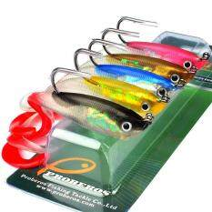5Pcs Fishing Lures Set 10cm 14.7g Soft Silicone Grub Bait Artificial Baits with Shank Hook