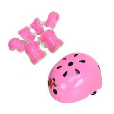 7pcs Children Protective Gear Safety Helmets And Pads (pink) (intl) By Amygoals Store.