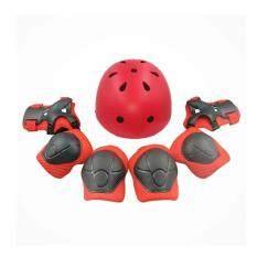 Giá bán 7 chiếc Bảo vệ Mũ Bảo Hiểm Khuỷu Tay Cổ Tay Lót Đầu Gối Có Thể Điều Chỉnh Ván Trượt Trượt Patin Đi Xe Đạp 1059