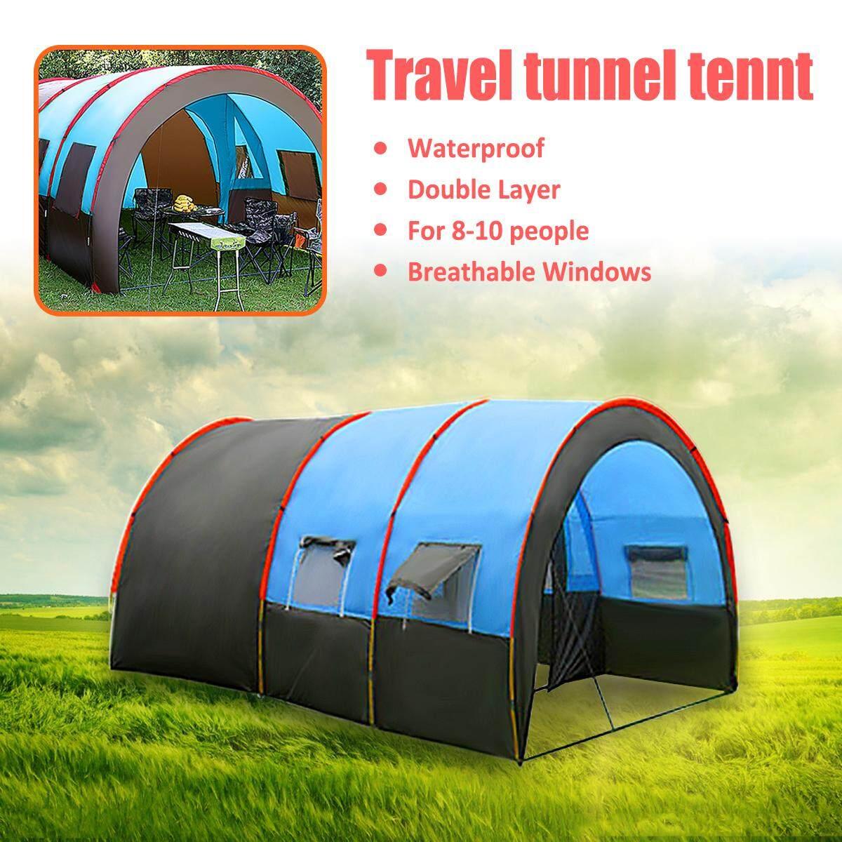 Tenda Camping Berkemah Rumah Hellokitty Sedang 8 10 Orang Tahan Air Luar Ruangan Liburan Besar Dua Lapisan Kami