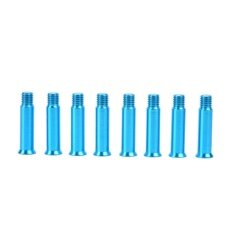 Giá bán 8pcs Aluminum Roller Skate Shoes Single Face Spikes Nail Screws 34mm Blue - intl