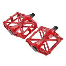 [cheerfulhigh]9/16 In Bike Pedals Ultra-Light Alloy Cycling Treadle Universal Bicycle(red) By Cheerfulhigh.