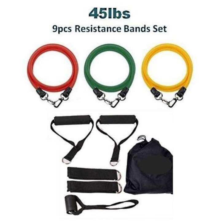 SellinCost 9pcs 45lbs Resistance Bands 100% Quality