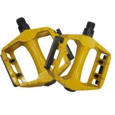 A Pair Universal Aluminum Alloy Mountain Bmx Mtb Bicycle Bike 9/16 Pedals Flat - Yellow By Superbuy888.