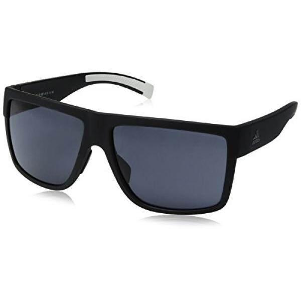 Adidas 3 Matic Non-polarized Iridium Persegi Panjang Kacamata Hitam, Warna Tidak Mengkilap Hitam, 60 Mm-Internasional