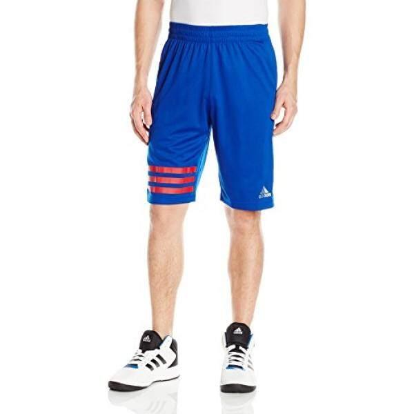 Adidas Bola Basket Pria Maret Madness 3 Garis Celana Pendek, Collegiate Royal Besar-Intl