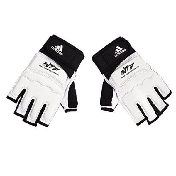 Adidas Taekwondo Hand Protector Hand Guard Hand Gear Gloves TKD WTF Approved S to XL (3.L(7.5inch/19cm)) - intl