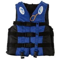 Adult Life Jacket Lifesaving Swimming Boating Sailing Vest + Whistle Blue S Color:blue Size:xl By Magic Cube Express.