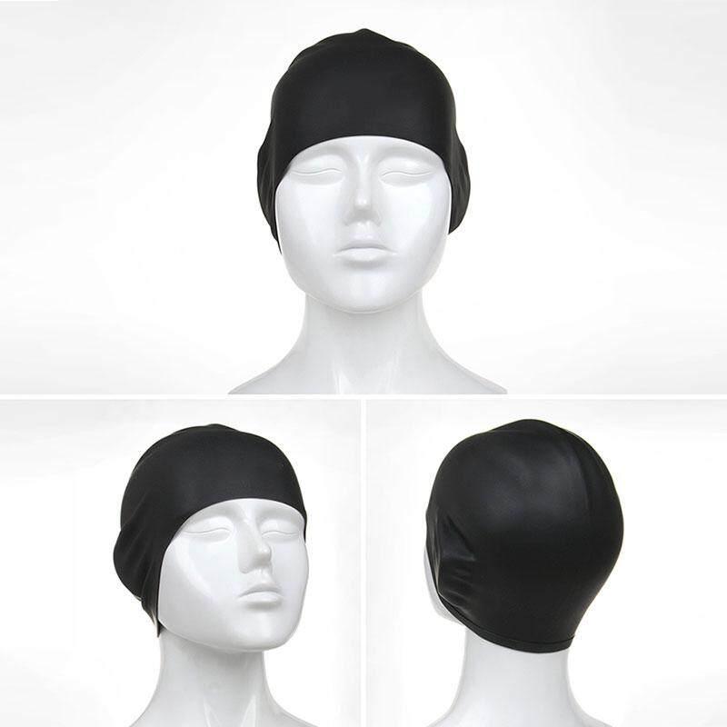 Dewasa Silicone 3D Polos Topi Renang Karet Pelindung Telinga Kolam Renang  Topi Renang ecd99fecf3