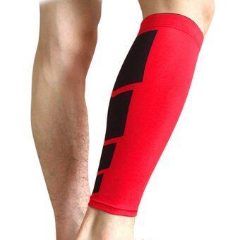 Harga preferensial Allwin olahraga betis kaki penguat kaki kompresi  dukungan peregangan lengan baju latihan adapula Merah 4931794b67