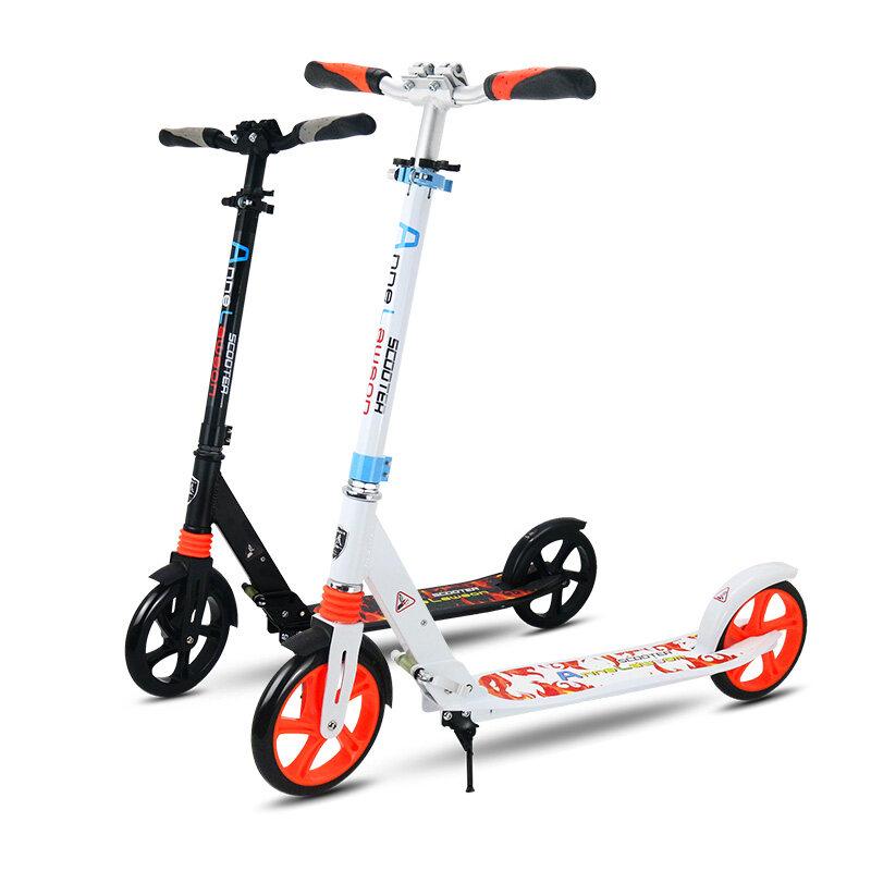 Aluminium Aloi 2 Wheel Skuter untuk Anak-anak Dewasa Folding Portable Mini Sepeda Scooter Dorong Dewasa Tinggi Skuter Yang Dapat Disesuaikan 200 Mm-Intl