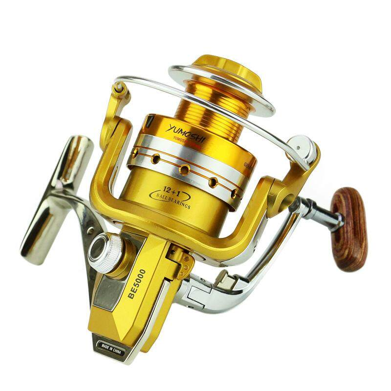 FISHDROPS Full Metal Fishing Spinning Reel with Foldable Handle BE6000 intlTHB866 THB 867