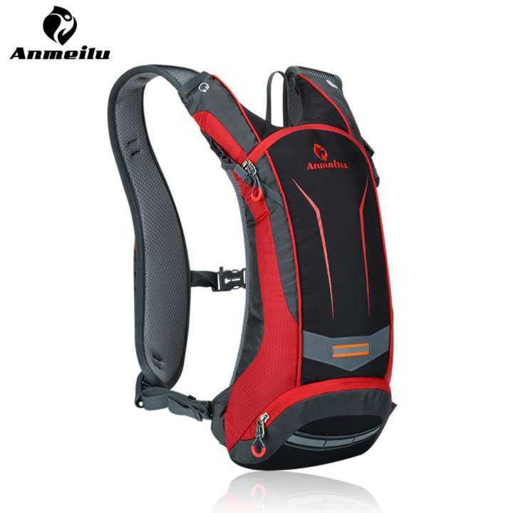 ANMEILU 8L Waterproof Sports Backpack Nylon Bag for Men Women Outdoor Camping Hiking Climbing Cycling Jogging Fishing Rock Climbing Skiing Shoulders Bag ,Red