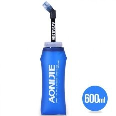 Aonijie 600ml Folding Long Straw Bpa Free Tpu Water Bottle Sport For Traveling Camping By Fashion Cabinet.
