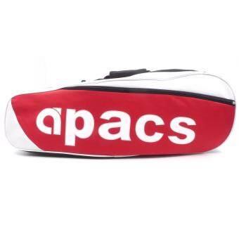 Apacs 2 Compartments Thermal Badminton Racket Bag AP268 Black / Red ...