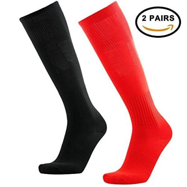 Baseball Soccer Socks, 3street Unisex Team Speed Compression Long Sport Football Basketball Tube Socks Red