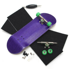 Basic Complete Wooden Fingerboard Finger Scooter With Bearing Grit Box Foam Tape Purple By Freebang.